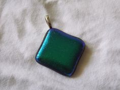 Matte Must Fused Glass Dichroic Pendant by RiffRaffGlass on Etsy