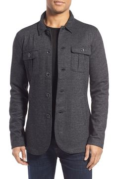 John Varvatos Star USA Knit Shirt Jacket available at #Nordstrom