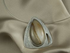 Yellow Agate Sterling Silver Pendant