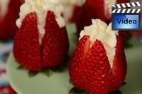 English Tea Party Recipes *Tested Recipes* Joyofbaking.com  Strawberries Filled With Cream