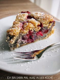 Ich bin dann mal kurz in der Küche: Mohn-Quarkkuchen mit Zwetschgen und Zimtstreusel