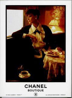 Vintage Chanel Boutique Ads of the 1980s - Ines De La Fressange