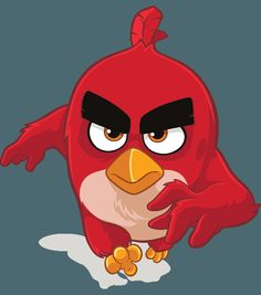 Movie version of Red, from Rovio's advertising page.