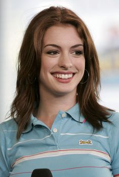 NEW YORK - AUGUST 10:  (U.S. TABLOIDS OUT)  Actress Anne Hathaway makes an appearance on MTV's Total Request Live on August 10, 2004 in New York City. (Photo by Peter Kramer/Getty Images) via @AOL_Lifestyle Read more: https://www.aol.com/article/entertainment/2018/04/05/anne-hathaway-heads-fat-shamers-off-at-the-pass-with-weight-gain-explanation-video/23404127/?a_dgi=aolshare_pinterest#fullscreen