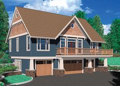 One Bedroom Suite Over Four Car Garage - 69394AM | 2nd Floor Master Suite, CAD Available, Carriage, PDF | Architectural Designs