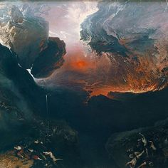 """Detail from The Great Day of His Wrath (ca. 1853), by John Martin, who met his maker today in 1854.…"""""""