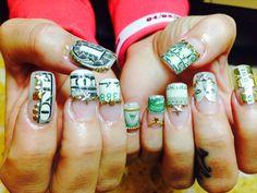 Money nails art @ Ocean Nails & Spa, FWB,FL.