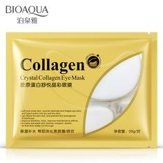 10pcs=5bag=5pair Hot sale BIOAQUA Crystal Collagen Eye Mask Sticker anti-aging anti-puffiness dark circles moisturizing eye care