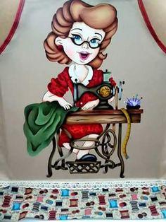 Pintura em tecido | bonecas |  costureira