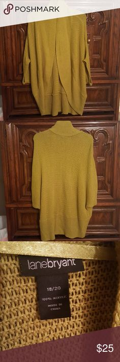Knitted Cardigan Open batwing style cardigan. Perfect for the season in colors. Rounded at the bottom and very roomy. Loose fitting and plenty of room has lots of stretch Material : 100% acrylic Measures: 30 inches from shoulder seam to bottom middle of cardigan 18 inch circumference for sleeve width opening Lane Bryant Tops