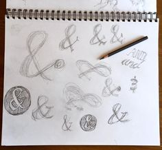 Sketching some ideas for ampersand designs #in #twitter #tumblr