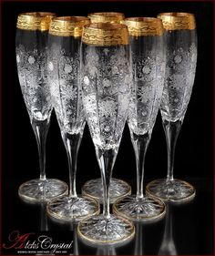 «Aleks-Crystal.com» - Bohemia crystal Champagne glasses! Baccarat Crystal, Crystal Decanter, Crystal Glassware, Bohemia Crystal, Bohemia Glass, Crystal Champagne, Champagne Glasses, Cut Glass, Glass Art