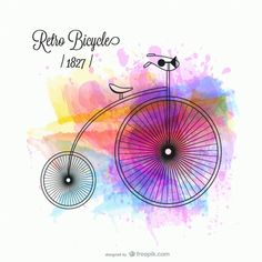 Diseño del vector de la bicicleta retro