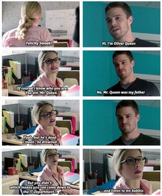 Arrow - Felicity & Oliver #Season1 #Olicity <3 <3 <3