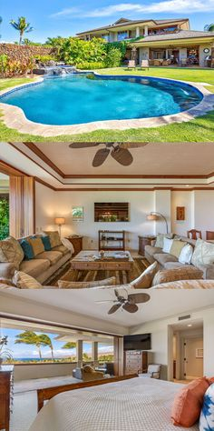 KaunaOa Accommodations - Luxurious Townhouse Walk to 2 Beaches, Private Pool and Spa, 2 Golf Carts Par 3 Golf Course, Private Pool, Vacation Rentals, Townhouse, Golf Courses, Hawaii, Spa, Relax, Luxury