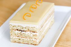 Hazelnut-White Chocolate Opera Cake