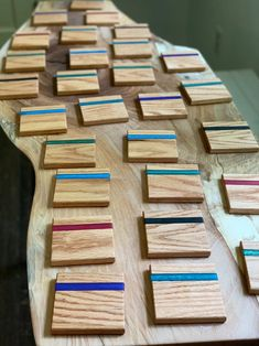 Made to order red oak and epoxy resin coasters, set of Can be made with a variety of colors (up to 3 colors for a marbled effect). Resin And Wood Diy, Wood Resin Table, Epoxy Resin Table, Diy Resin Crafts, Wooden Diy, Wood Crafts, Diy And Crafts, Homemade Coasters, Woodworking Inspiration