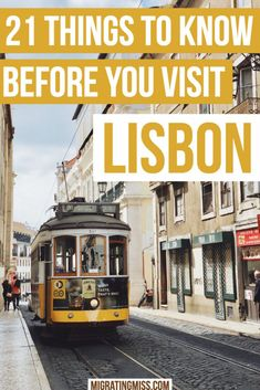 21 Things To Know Before You Visit Lisbon, Portugal - Migrating Miss How do you know what to do in Lisbon, where to go, or the best things to see? A guide to 21 things you should know before you visit Lisbon plus more top tips about visiting Portugal. Portugal Vacation, Portugal Travel Guide, Europe Travel Guide, Travel Guides, Portugal Trip, Italy Vacation, Sintra Portugal, Visit Portugal, Spain And Portugal