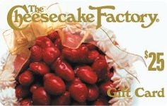 The Cheesecake Factory Gift Card $25.00