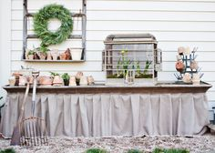 Potting Table, Potting Acessories, Bird Cage with Forced Bulbs - Garden Variety