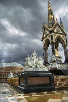 Albert Hall and Memorial: built by Queen Victoria to mourn the death of her husband. London