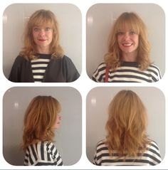 I keep her layers short and light. This created body am movement in her hair. I love her fringe with this cut. Styled with Form Vital and Lift Vertige by Kerastase. Finished with Après Beach  by Oribe.