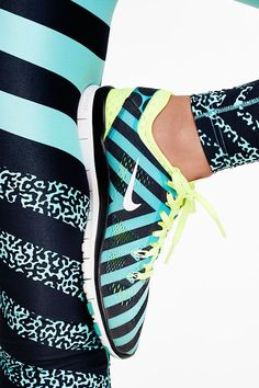 One-two punch of color. Shop this bold training outfit with all-new vibrant patterns, the Nike Free TR 5 Print and Legendary Mezzo Zebra Tight.