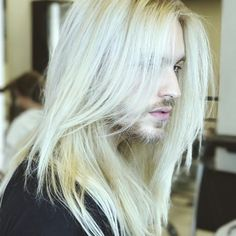 Alessandro Pierozan (@alepierozan). There's something sexy about a man with sexy, long blonde hair.