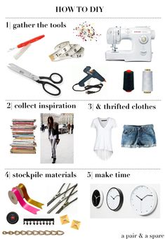 a pair and a spare . diy fashion: HOW TO DIY - 5 STEPS