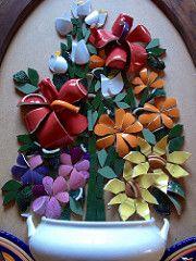 Mosaic dog by Solange Piffer Mosaic Birdbath, Mosaic Garden, Mosaic Birds, Mosaic Flowers, Mosaic Artwork, Mosaic Wall Art, Mosaic Crafts, Mosaic Projects, Mosaic Ideas