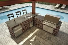 Nantucket Outdoor Kitchen - Carolina Signature Outdoor Kitchen ...