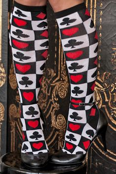Socks by Sock Dreams » Poker Suit Acrylic Knee High