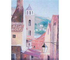 DUBROVNIK painting Croatia art FRAMED Architecture by JanMatsonArt