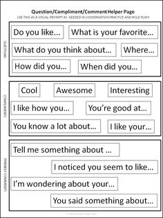 """All About Me"" signs to help with reciprocal peer conversation in children with ASD 