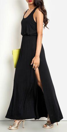 DAILYLOOK Drop Waist Maxi Dress
