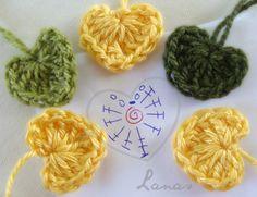 Crochet Heart Pattern Free Charts 15 Ideas For 2019 Crochet Diagram, Crochet Chart, Love Crochet, Crochet Motif, Diy Crochet, Crochet Doilies, Crochet Stitches, Crochet Flower Patterns, Crochet Flowers