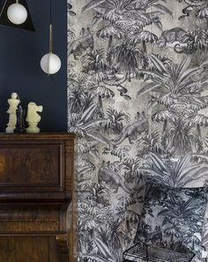 Our wallpaper is printed in the UK using the highest quality inks and paper. The paper we use is non woven and uncoated. 3 drops in each roll, each drop is 70 x 300 cm This wallpaper repeats. The Concrete Jungle Wall mural is a part of the Concrete Jungle Collection.