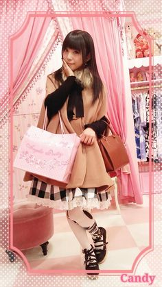 Cute cape on Angelic Pretty girl
