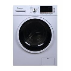 Front Loading Electric Washer / Dryer Combo with Ventless Drying Technology Compact Washer And Dryer, Compact Laundry, Laundry Dryer, Doing Laundry, Stainless Steel Drum, Laundry Center, Gas Dryer, Laundry Appliances, Tub Cleaner