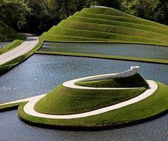 Jencks' Life Mounds at Jupiter Artland, near Edinburgh