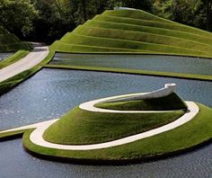 Jencks' Life Mounds at Jupiter Artland, near Edinburgh