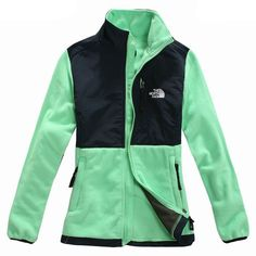 North Face Denali but custom colors with Nottingham green fleece and cosmic blue
