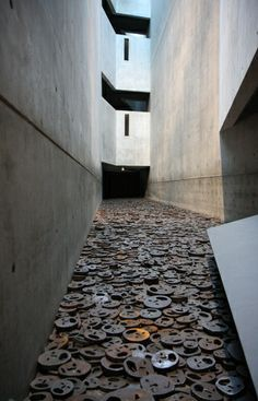 'Shalekhet' - Fallen Leaves. Work by Menashe Kadishman at the Jewish Museum, Berlin.