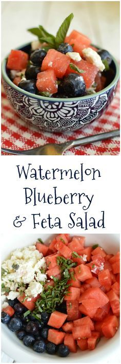 Watermelon, Blueberry, & Feta Salad - Little Dairy On the Prairie