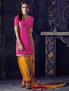 Get look pretty looks like Shraddha Kapoor by wearing this Gorgeous pink salwar suit.