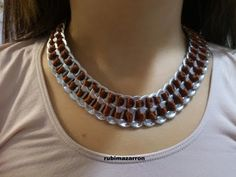 Joanne Archambault shared a video Soda Tab Crafts, Can Tab Crafts, Soda Can Tabs, Diy Jewelry Tutorials, Trash To Treasure, Jewelry Necklaces, Bracelets, Recycled Crafts, Chainmaille