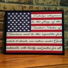 Hey, I found this really awesome Etsy listing at https://www.etsy.com/listing/192147849/american-flag-pledge-of-allegiance-wood