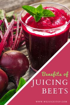 Low fat and full of vitamin C and antioxidants, beets are actually most beneficial when raw since cooking destroys many of their nutrients, and juicing them is one of the best, quickest and easiest ways to include them in your diet. #WeJuiceItUp #juicing #juicingrecipes #juicingrecipesforbeginners #juicingrecipesforweightloss #juicingrecipesforhealth #juicingdiet #juicingrecipe #healthyjuicingideas #healthyjuicingrecipes #howtojuicebeets #healthyjuicerecipes #juicingbeets