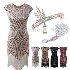 1920s Flapper Dress Great Gatsby Sequin Beaded Fringe Dresses Art Deco Plus Size