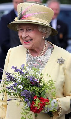 I'm not sure you can get more stylish than QEII. Who else looks that good in yellow?